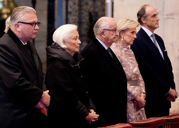 Belgian royal family attend the Kingsday te Deum mass at St Michael and St Gudula Cathedral in Brussels