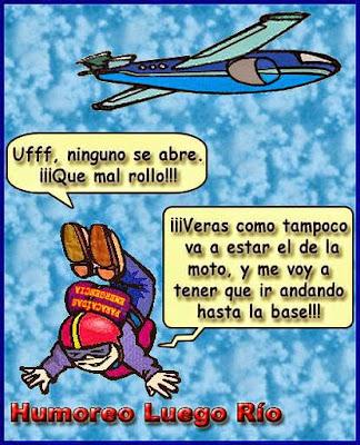 El primer salto en paracaídas de Manolito