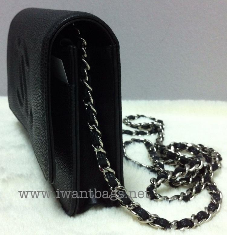 2345b1199b2a I Want Bags backup: Chanel CC Logo Caviar Wallet on Chain (WOC) -Black