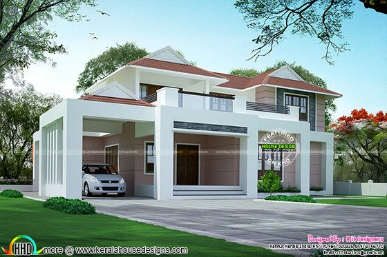 2612 sq-ft modern 3 BHK house