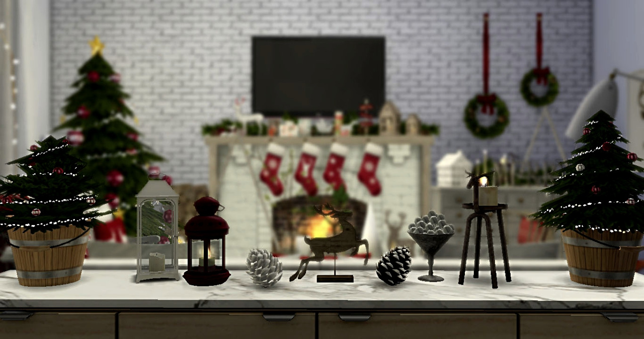 My sims 4 blog christmas decor by sweetcaffeine for Christmas accessories