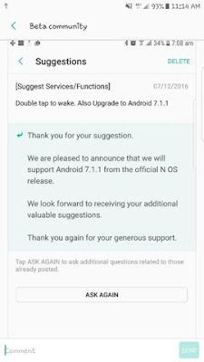 Samsung Galaxy S7 Update Android 7.1.1 Nougat