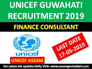 UNICEF Guwahati Vacancy-Public Finance Consultant Assam Field Office