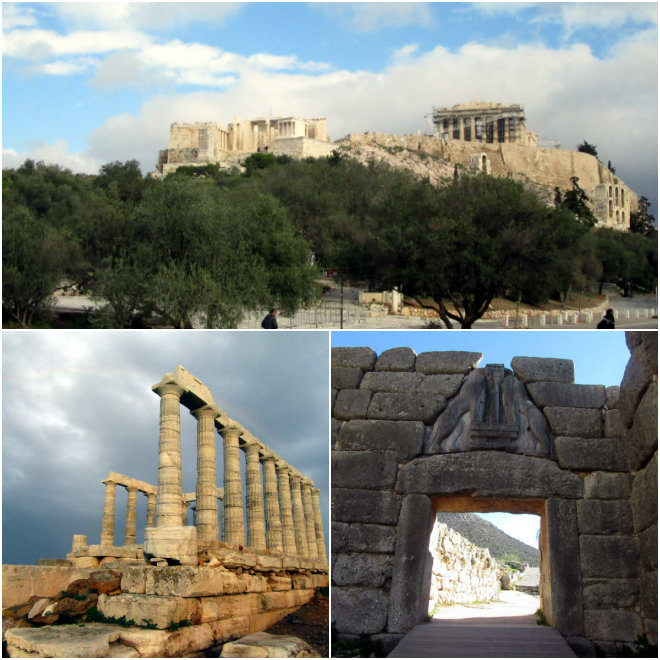 Athens, the ancient city of our past by Laka kuharica: Acropolis, Sounion and Mycenae