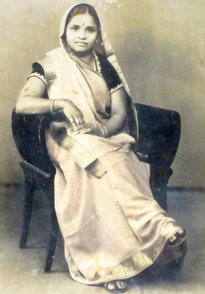 Vintage Photograph of an Indian Lady Seated on a Chair