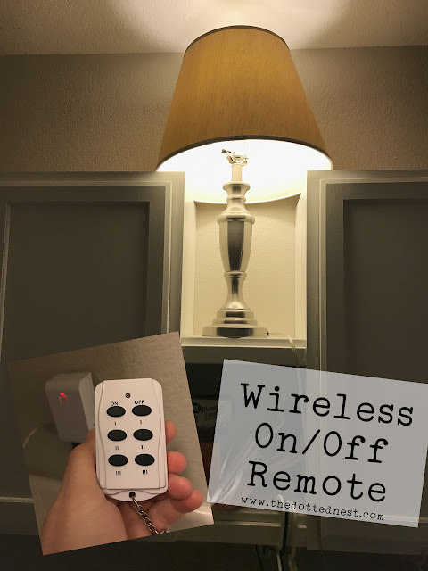 Wireless On/Off Remote Switch | Farmhouse Glam Laundry Room Makeover