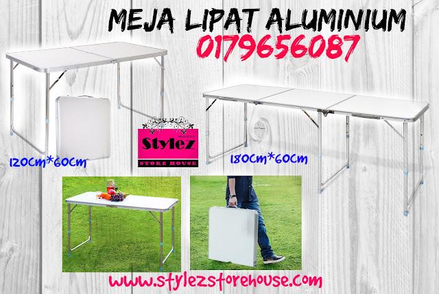 meja lipat aluminium