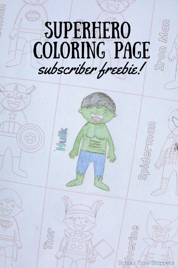 Superhero Activity for Kids