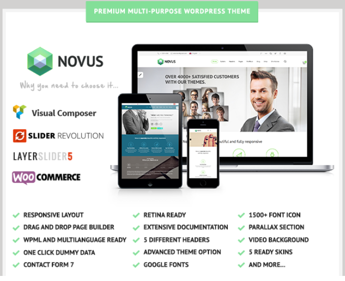 Responsive Multipurpose WordPress Template