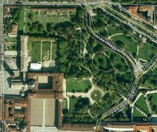 I Giardini Reali dall'alto