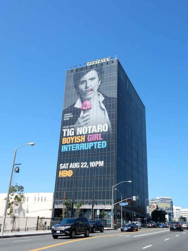 Giant Tig Notaro billboard Sunset Strip