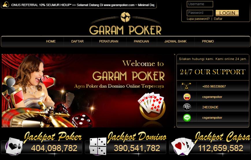 Situs Bandar Poker Dan DominoQQ Terpopeler GaramPoker