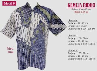 Grosir kemeja batik pria murah dan berkualitas (batik pekalongan)- ridho motif 9