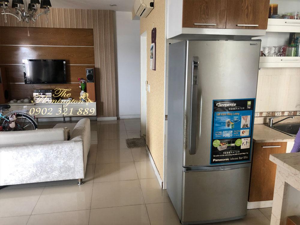 Bán gấp căn hộ Flemington Lê Đại Hành tầng 12 block A 117m2 - phòng khách liền bếp có tủ lạnh