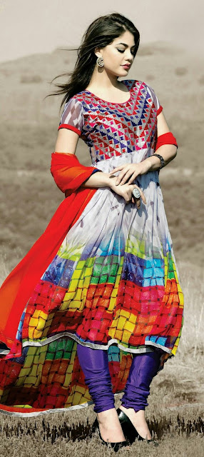 Multi color full Kameez Shalwar