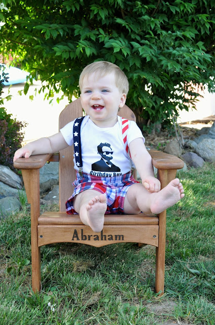 Abraham Lincoln Party, first birthday, patriotic, red, white, and blue, gift