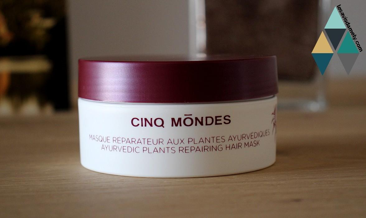 masque réparateur pour cheveux secs et abimés plantes ayurvédiques