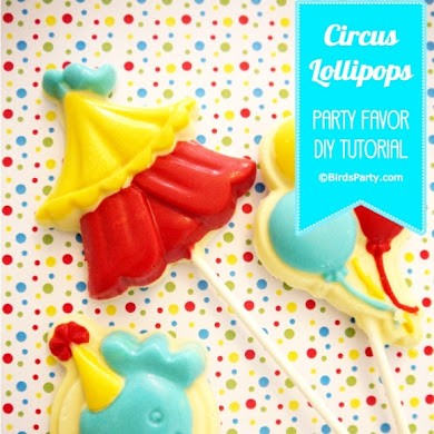 Big Top Circus Party | DIY Chocolate Lollipop Favors