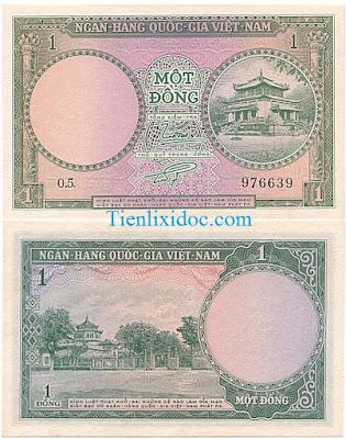 1 đồng việt nam cộng hòa 1955 lần 2
