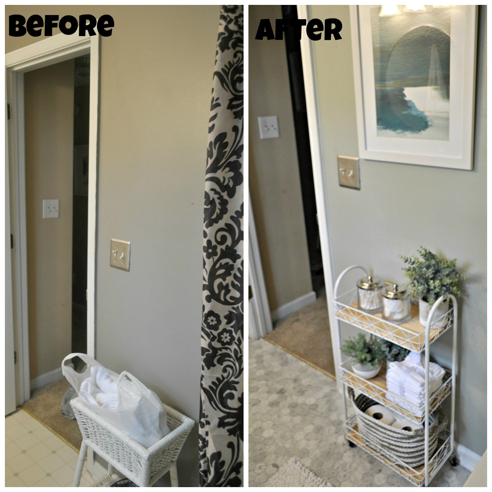 small bathroom makeover before and after