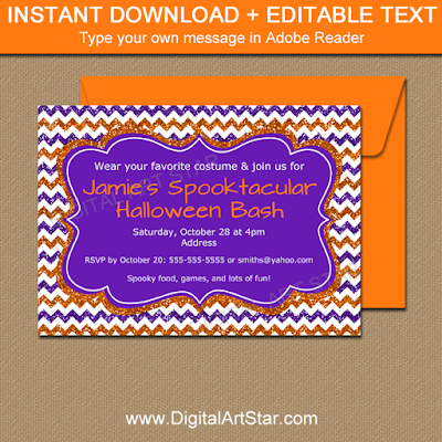 halloween invitation, fall pregnancy announcement template