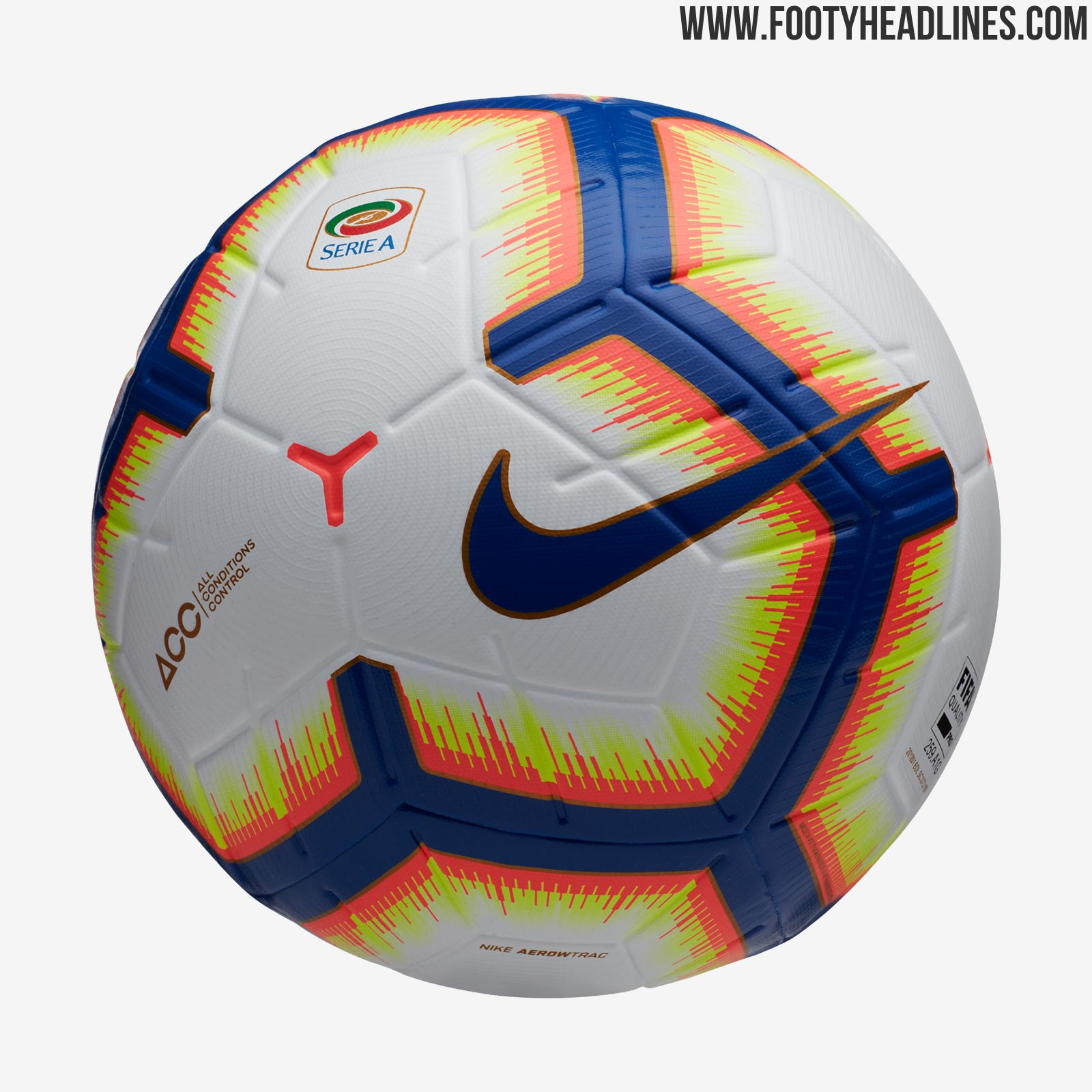 ef8cc3937e8 Nike Merlin Serie A 18-19 Official Match Ball Does Not Feature New Crest