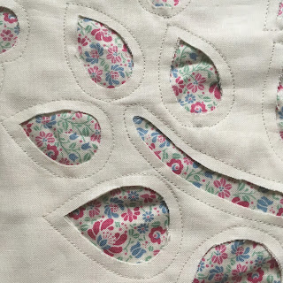 close up reverse applique