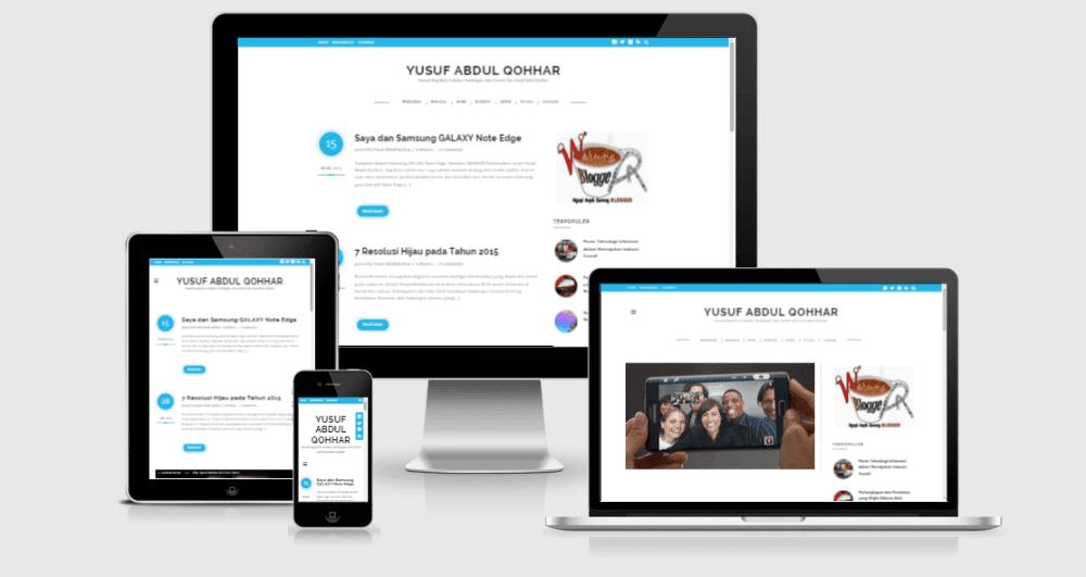 desain web blog responsive