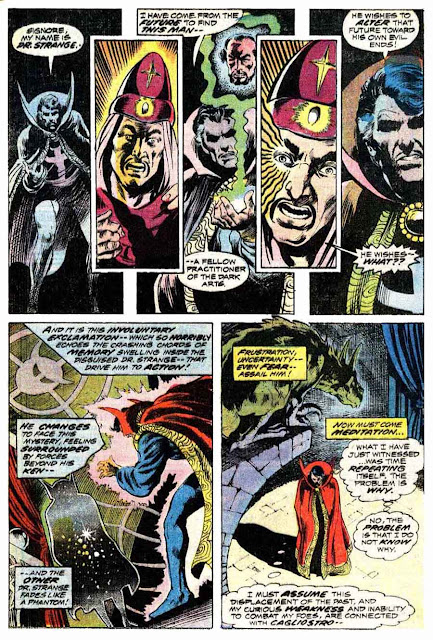 Marvel Premiere #13 / Doctor Strange marvel 1970s comic book page by Frank Brunner