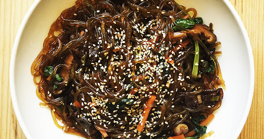 Japchae (Vegan Korean Stir-Fry Noodles)