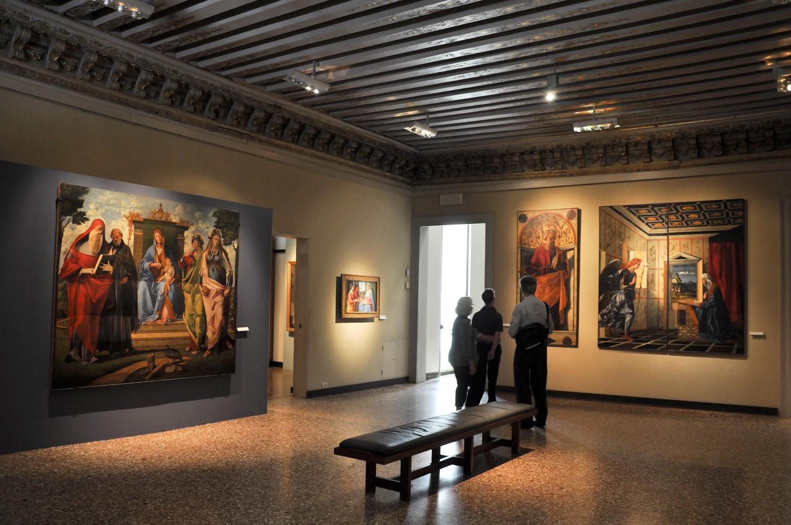 Inside Gallerie dell'Accademia in Venice