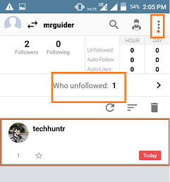 How to see which instagram users unfollowed you on instagram tech hunt after it youll see your followers numbers name of the followers who unfollowed you in past related how to add and use multiple instagram ccuart Images