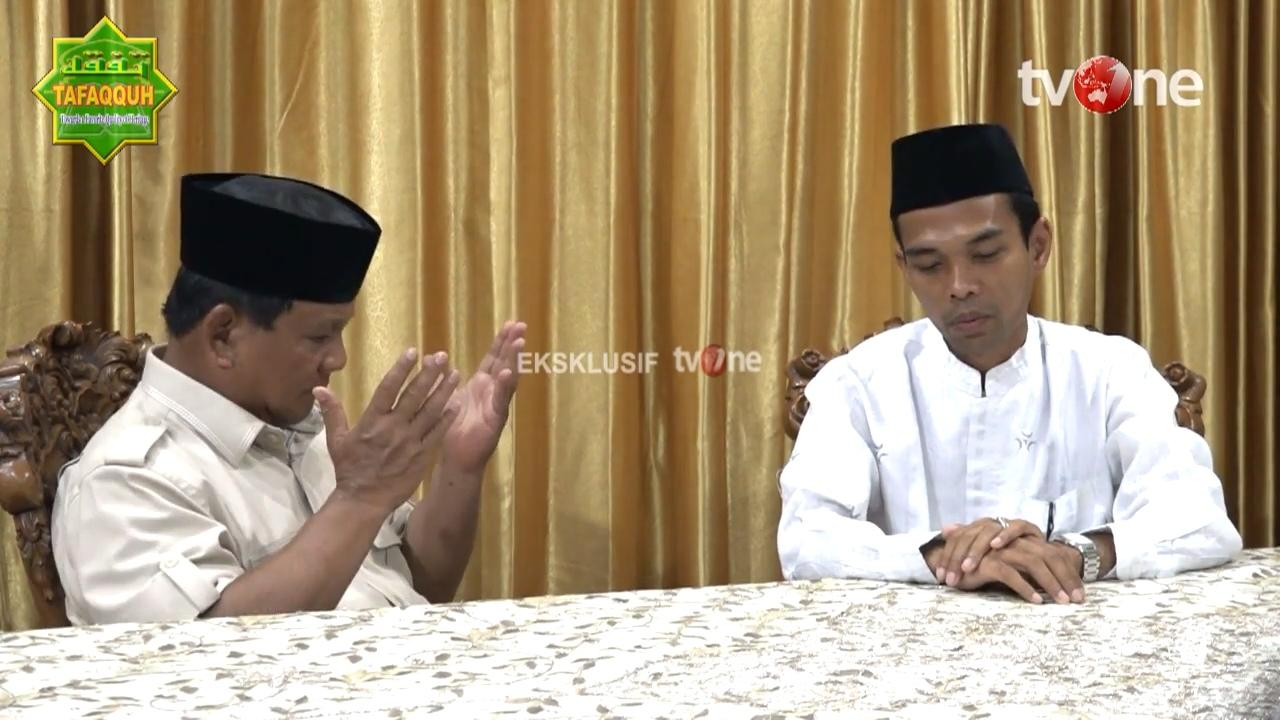 Doa Ust Abdul Somad Ini Langsung Diamini Prabowo