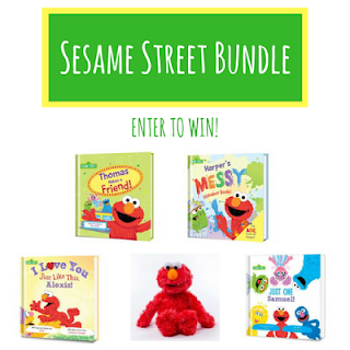Sesame Street, Elmo, giveaway, personalized books