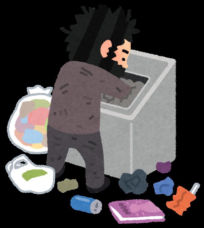 「ゴミ箱 あさる 素材」の画像検索結果
