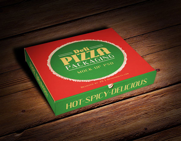 Pizza Packaging Box Mockup PSD