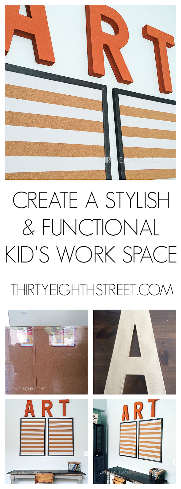 home work station ideas, farmhouse desk, displaying kids work, displaying children artwork