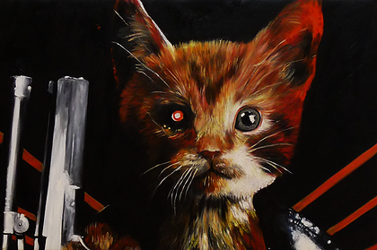 13-The-Terminator-Splendid-Beast-Your-Animal-Friend-on-an-Oil-Painting-www-designstack-co