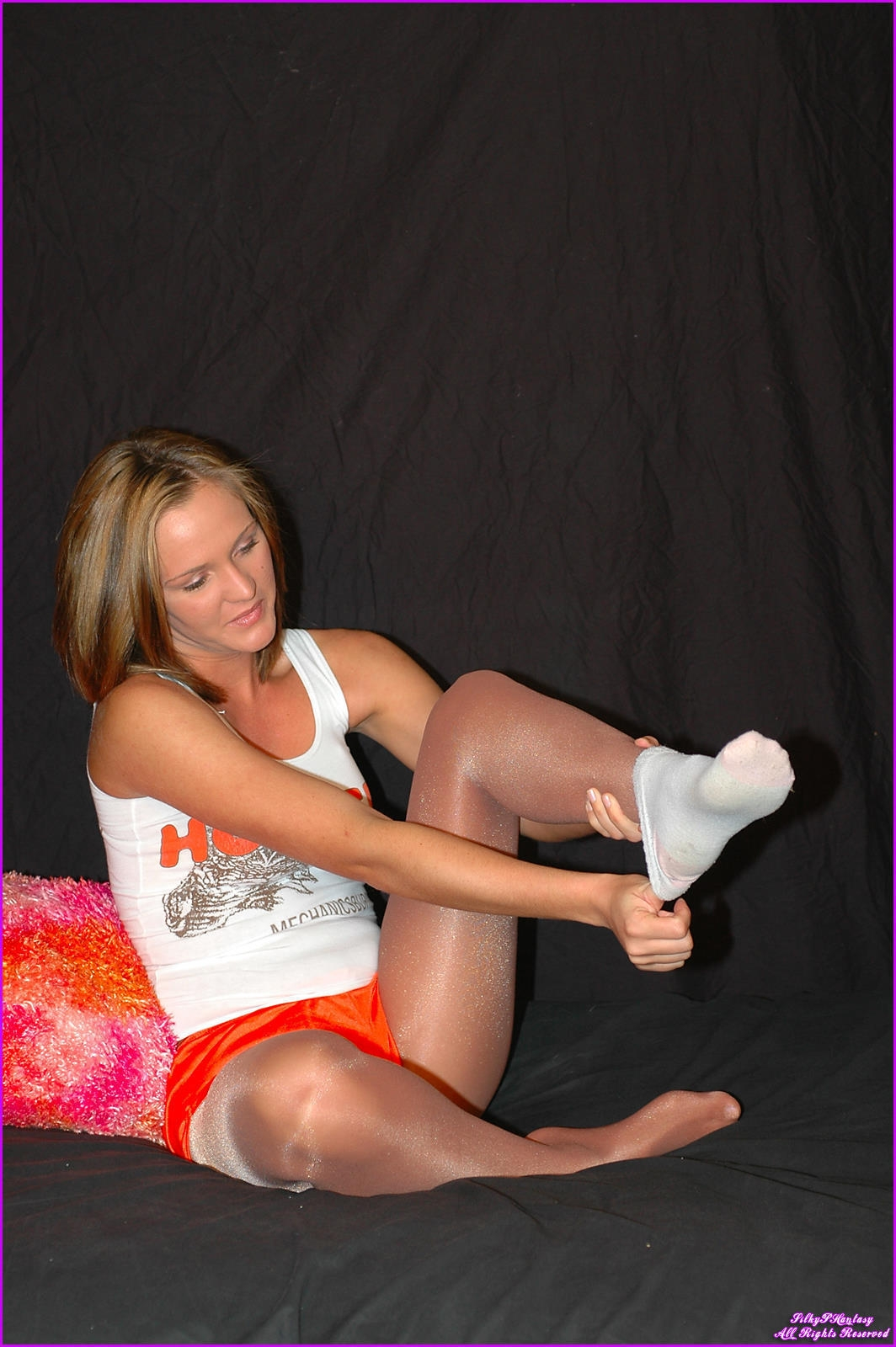 Hooters Girls Pantyhose Shorts-6398