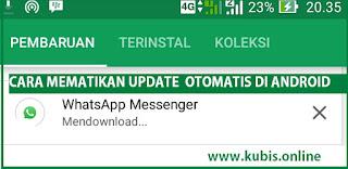 cara mematikan download otomatis aplikasi android