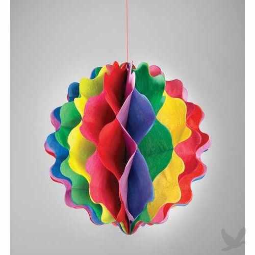 Arte color como hacer panales o nidos de abeja en papel seda - Como se hacen adornos navidenos ...