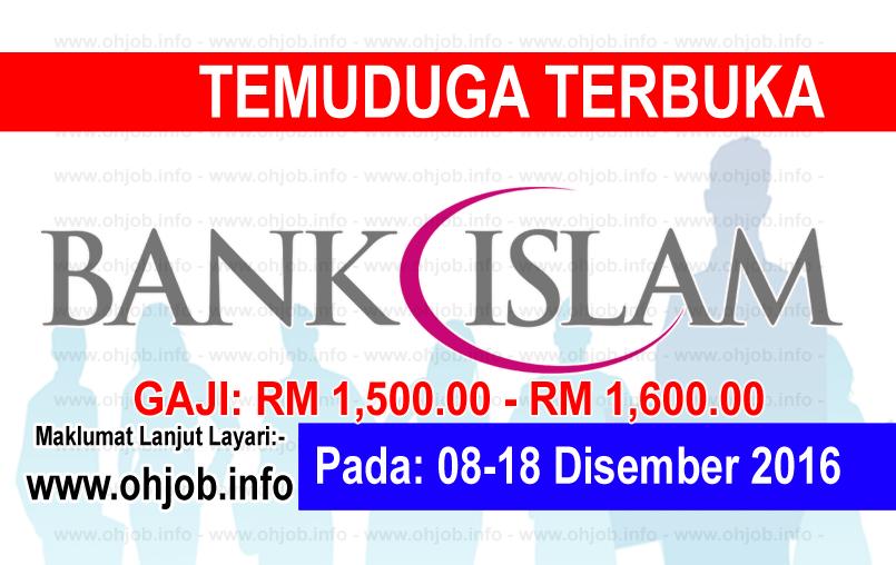 Jawatan Kerja Kosong Bank Islam logo www.ohjob.info disember 2016