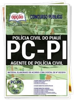 Apostilsa Concurso PC Piauí 2018 Agente de Polícia