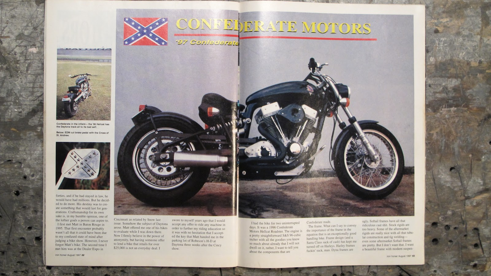 Iron Horse Magazine Confederate Motorcycle Review