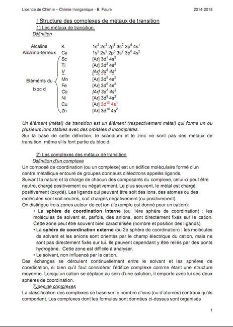 COURS chimie descriptive COMPLET | CoursUNIVER