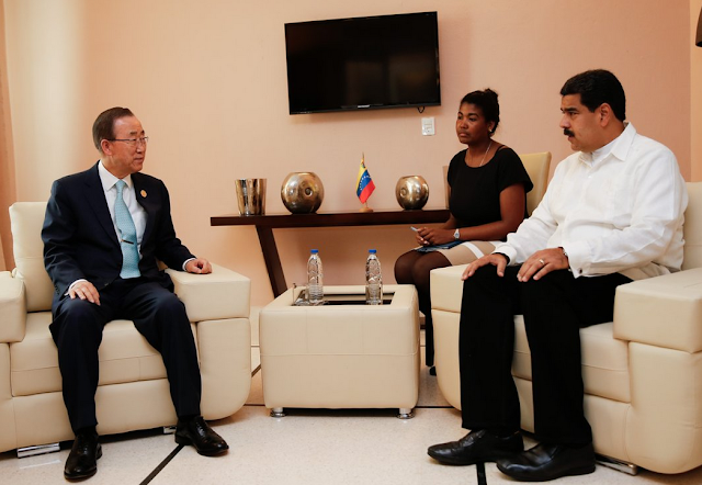 Nicolas Maduro and Ban Ki Moon
