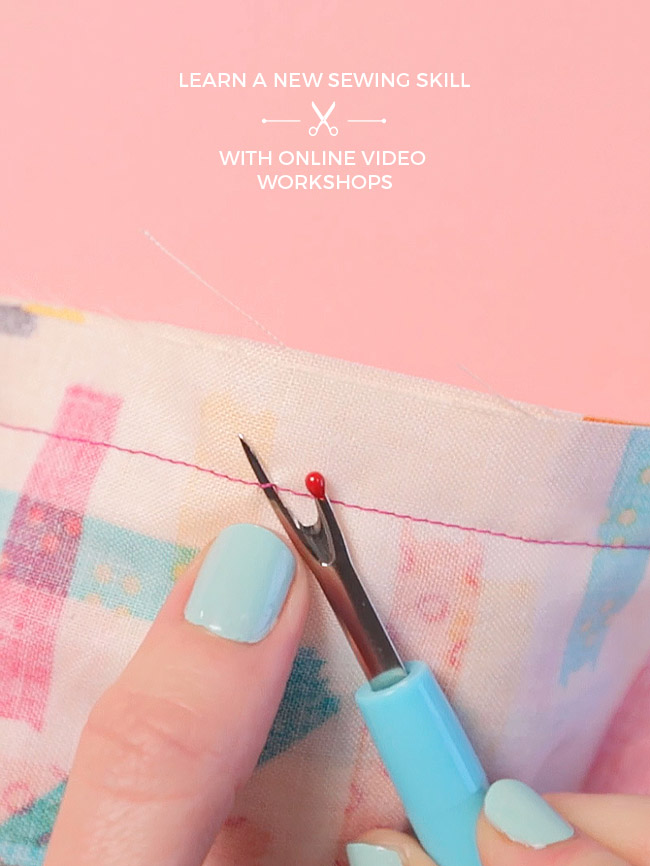 Learn a new sewing skill with online video workshops