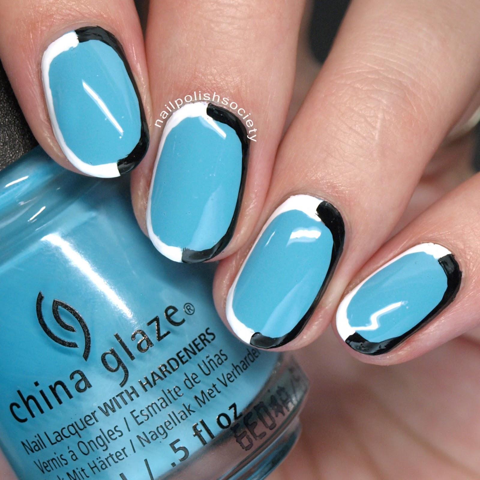 Nail Polish Society: 31DC2016 Day 5: Blue Mod