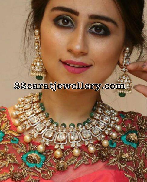 Grand Diamond Set Pachi Jhumkas