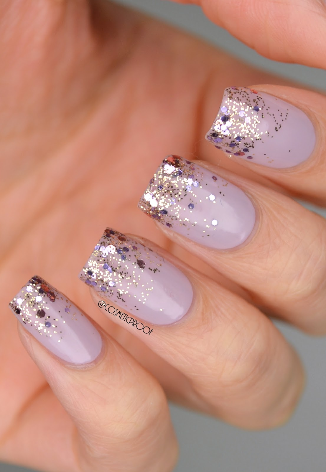 Nails purple glitter gradient with nicole by opi cosmetic glitter gradient nail art prinsesfo Gallery